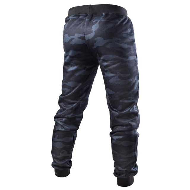 Camouflage Long Pants Men Casual Trousers Mens Loose Sport Pants Streetwear Spliced Drawstring Sweatpants Trousers Joggers Male 24