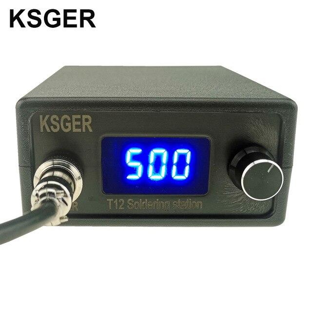 KSGER T12 הלחמה תחנת STM32 דיגיטלי בקר ABS מקרה 907 הלחמה ברזל ידית אוטומטי שינה Boost מצב חימום T12 טיפ
