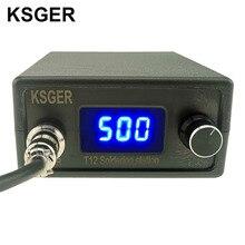 KSGER T12 Stazione di Saldatura STM32 Regolatore Digitale ABS Caso 907 di Saldatura Manico di Ferro Auto sleep Modalità Boost Riscaldamento T12 punta