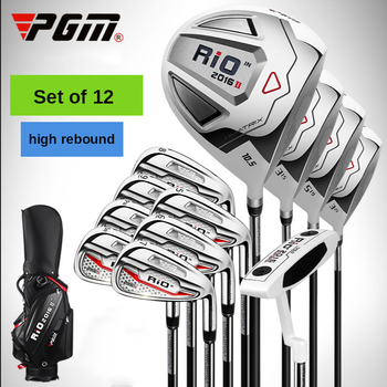 PGM New Golf Club Set 12 Pcs 9 4 Send Bag Carbon Cue Men And Women Poles High Quality Steel Free Delivery