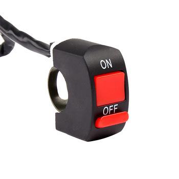Uniwersalne przełączniki motocyklowe kierownica migający przełącznik Moto włącznik światła włącznik wyłącznik przycisk przełącznik przyciskowy części silnika tanie i dobre opinie CN (pochodzenie) 2 2cm Motoryccle switch 4 4cm Plastic Wyłączniki motocyklowe Motorcycle Handlebar Flashing Switch Switches ON OFF Button