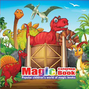 22 Pages New Dinosaur Painting Drawing Kill Time Book Will Moving DIY Children's Puzzle Magic Coloring Book