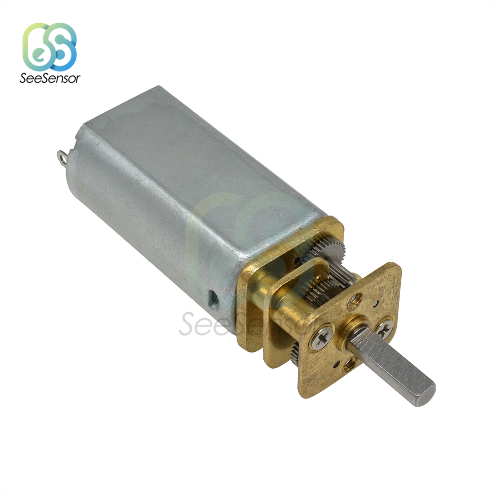 DC3V 6V 12V N20 Micro Speed Reduction Gear DC Motor with Metal Gearbox Wheel Hot