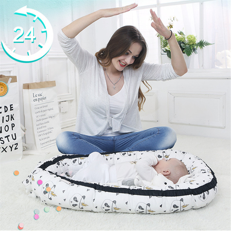Portabel Baby Nest Bed Newborn Bionic Bed Crib Cot BB Sleeping Artifact Bed Travel Bed Bumper