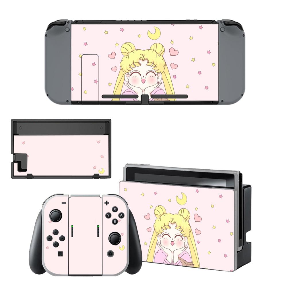 Anime Sailor Moon Nintendo Switch Skin Sticker NintendoSwitch Stickers Skins For Nintend Switch Console And Joy-Con Controller