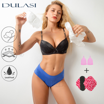 4 layer Menstrual Period Panties Sexy Bamboo Super Absorption Leakproof Incontinence Underwear Waterproof Lingerie DULASI Undies 1