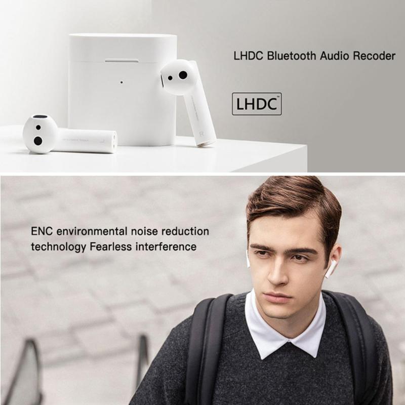 Xiao mi Air 2 TWS Bluetooth casque mi Airdots Pro 2 écouteurs commande vocale intelligente double mi ENC LHDC suppression de bruit HD écouteurs - 2