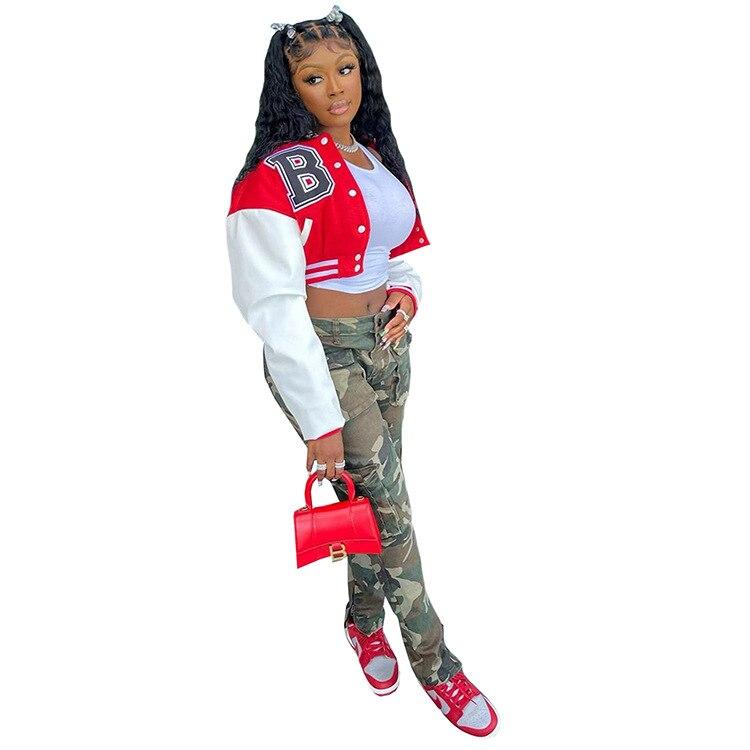 H1613d070977d47179af07a72777f4986Q Baseball Jackets for Women 2021 Autumn Letter Print Color Patchwork Cropped Long Sleeve Loose Short Bomber Jacket