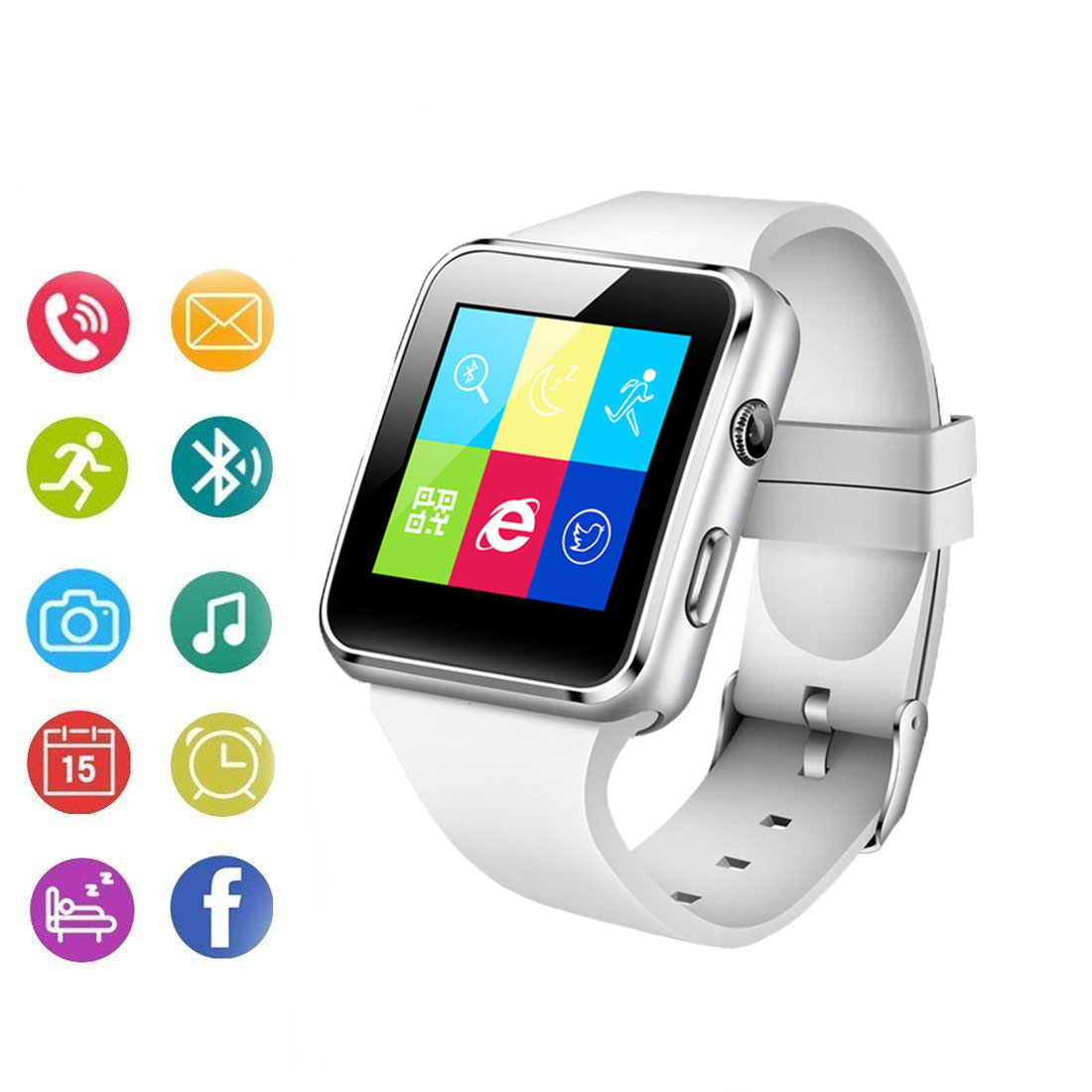 Watch Camera Tf-Card Touch-Screen iPhone Smart Support Whatsapp with SIM X6 for Millet