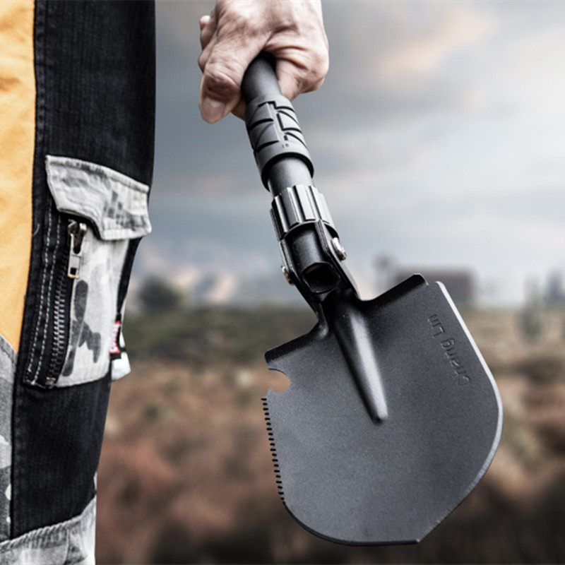 Outdoor Camping Shovels Mini Multifunctional Folding Tool High Hardness Alloy Steel Shovel For Hiking Climbing Fishing Equipment
