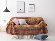 Богемное покрывало для дивана с геометрическим рисунком гостиной