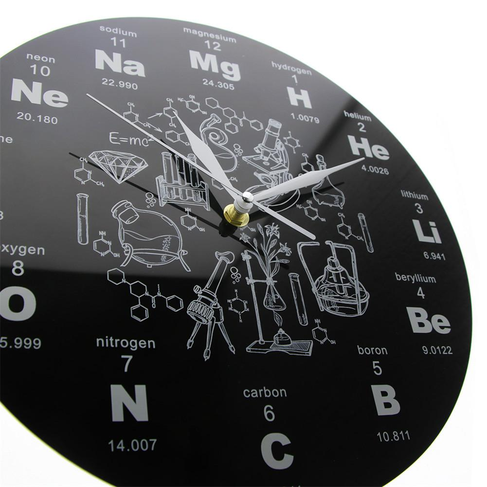 12/'/' Silent Bedroom Home Science Chemical Elements Gift Acrylic Wall Clock