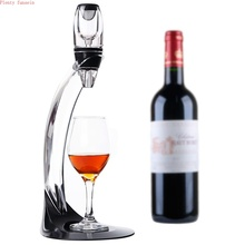 Magic Deluxe LED Wine Aerator Set Essential Decanter Pourer With Filter Stand Holder Vodka Quick Air  For Home Dining Bar