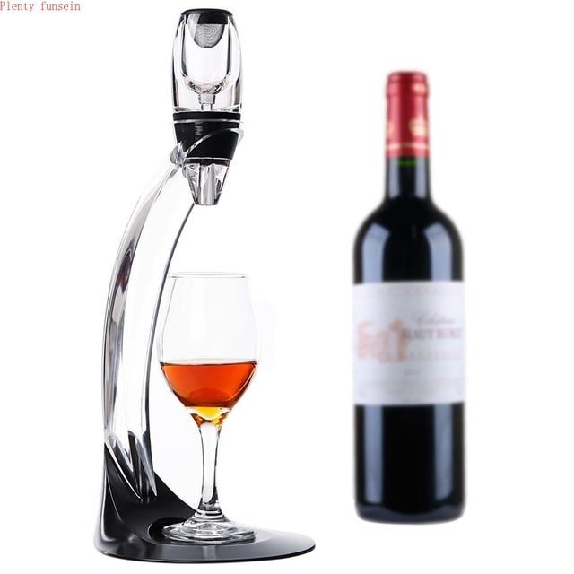 Sihirli Deluxe LED şarap havalandırıcı Set temel Decanter Pourer filtre ile standı tutucu votka hızlı hava ev yemek için Bar