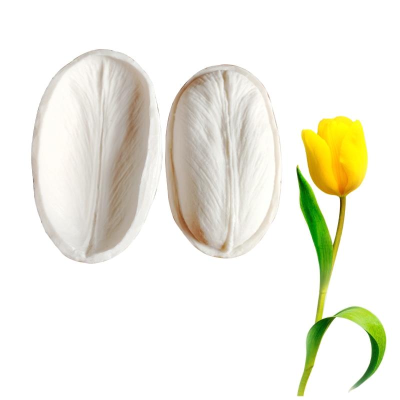 Tulip Petal Veiner Silicone Mold Fondant Gumpaste Surgarcraft  Clay Flower Cake Decorating Moulds DIY M2093