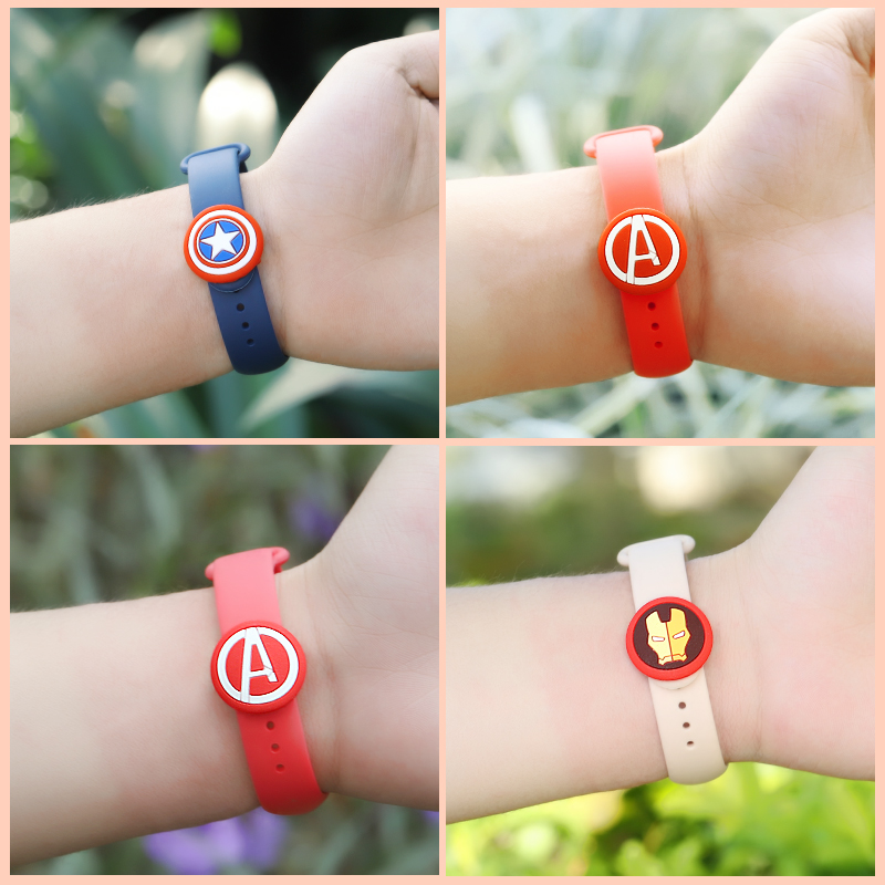 Watch Strap Retaining Hoop Loop for xiaomi band 2 3 4 Avengers Cartoon Edition Retainer Buckle Holder Mi band 4 3 Accessories