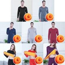 Термобелье для мужчин зима женщин кальсоны наборы флис согреться размера плюс топ+ брюки одежда