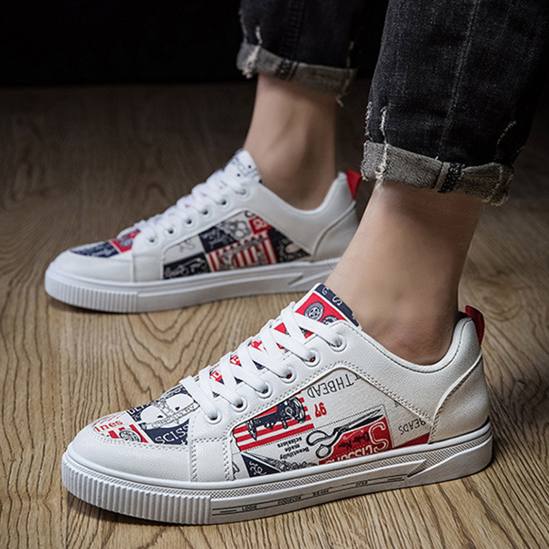 Fashion Sneakers Men Shoes 2020 Spring Men Casual Shoes Cool Young Man Street Shoes Flat Male Footwear KA2141