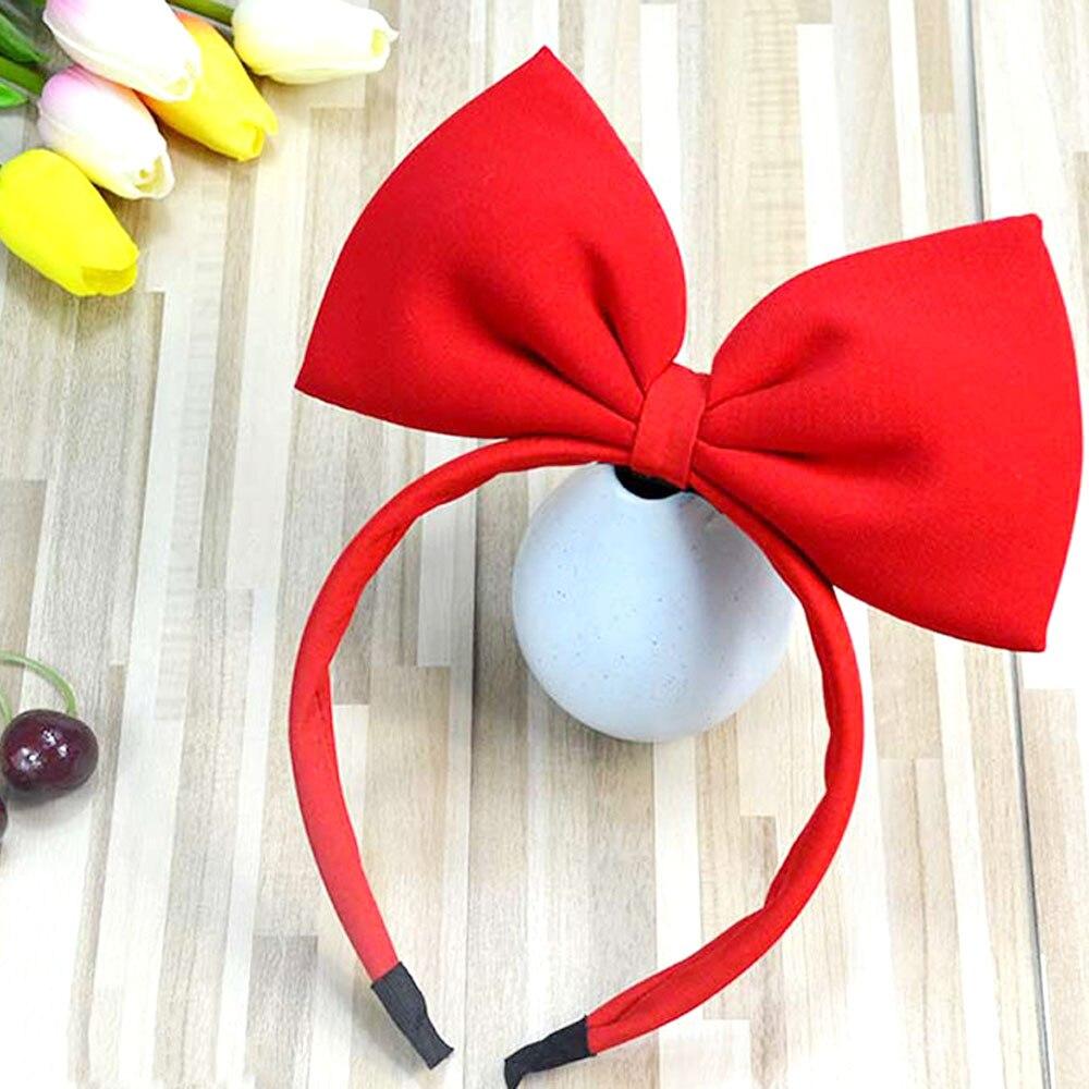Śliczna czerwona duża kokarda do włosów bawełniana opaska na głowę lolita opaska do włosów duża kokarda węzeł opaski dziewczyna opaska na głowę dziewczyny akcesoria do włosów