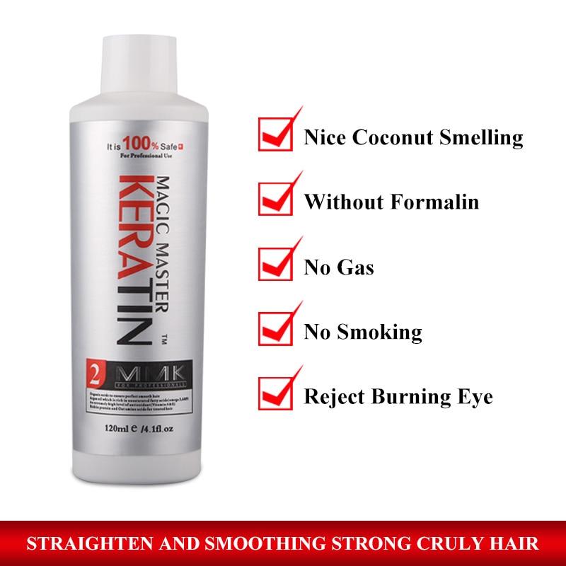 Купить с кэшбэком 120ml Without Formalin Magic Master Keratin Coconut Smelling Repair & Straighten Damaged Hair Care Treatment