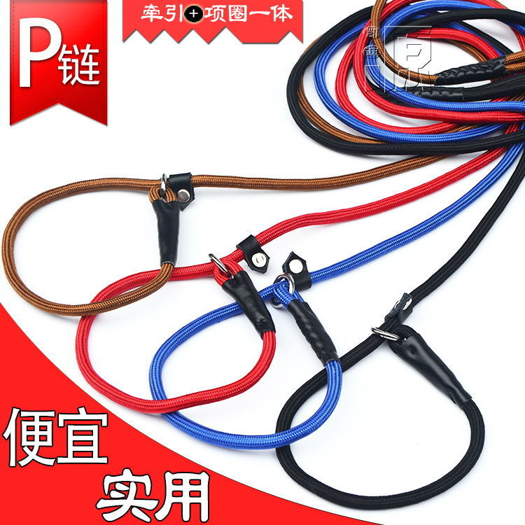 P Pendant Puppy Dog Hand Holding Rope Dog Pendant Sub-Dog Leash Teddy Golden Retriever Neck Ring Dogs With Training Rope Pet Lea