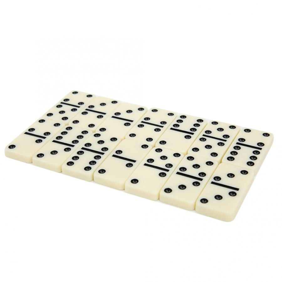 28pcs Dominoes Board Game with Transparent Box Package Intellectual Table Game Parent-child Interactive Toys for Kids Adult Gift