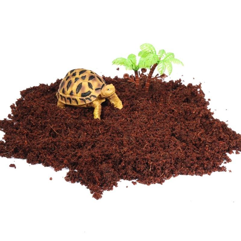 Reptile Coconut Fiber Beddings Bricks Terrariums Natural Tank Soil Reptile Lizard Fish Substrate Supplies Tortoise For