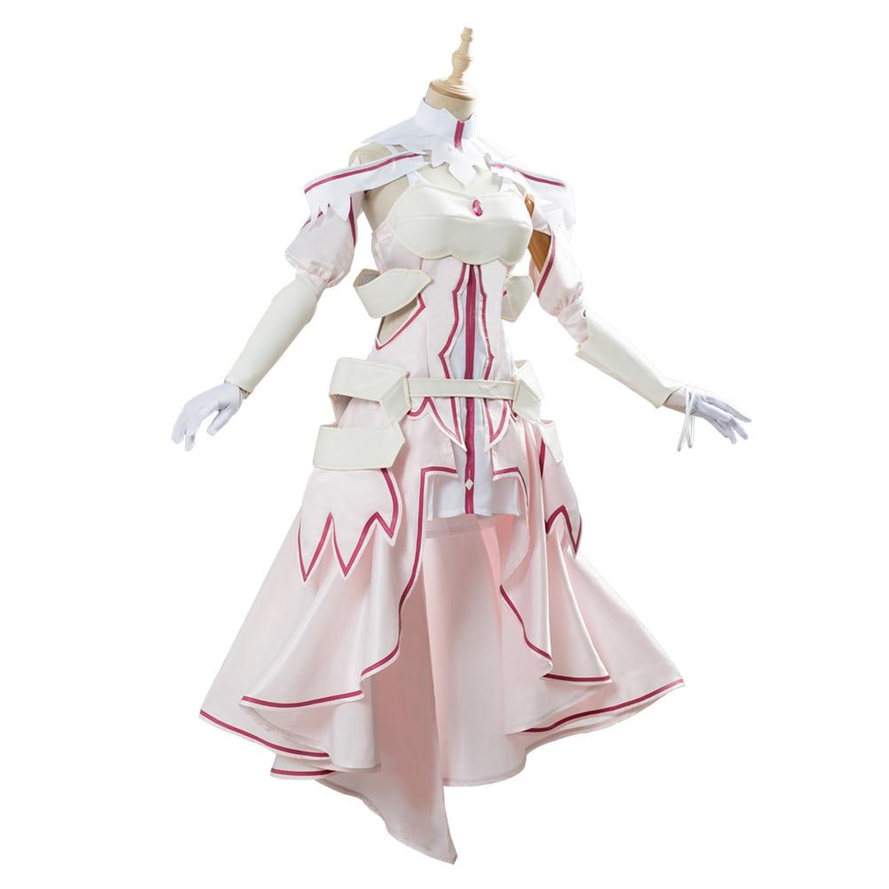 New cosplay fashion!Sword Art Online Asuna Yuuki Dress Cosplay Costume
