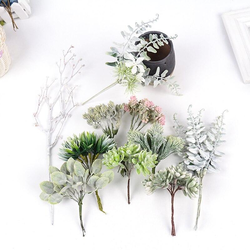 Искусственные цветочные искусственные растения, 1 шт., 13 см, букет ручной работы для свадьбы, дома, Рождественское украшение, венок «сделай с...