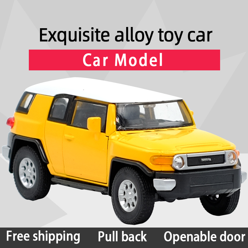 WELLY 1:36 FJ CRUISER Off-road Vehicle Alloy Diecast Car Model Toy With Pull Back For Children Gifts Toy Collection