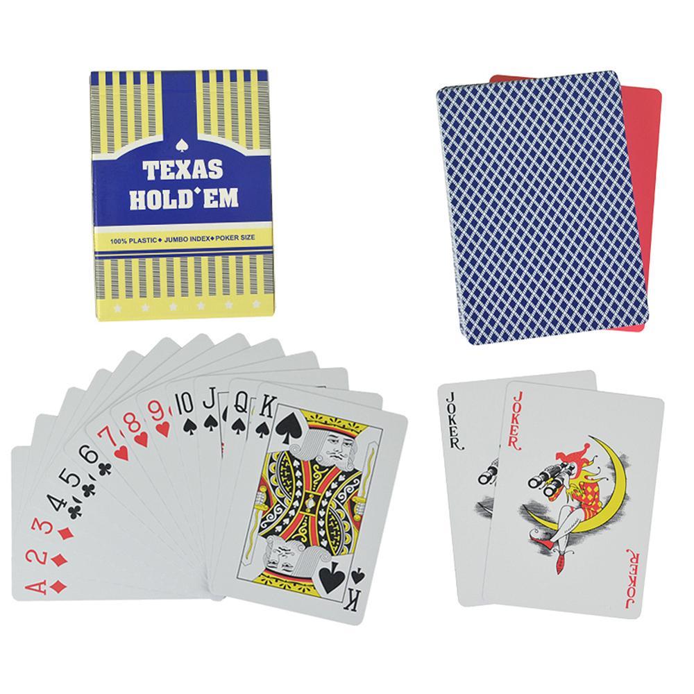 2 set/lote Baccarat Texas Hold'em de cartas de plástico impermeable glaseado de Poker póker juego 2,48*3,46 pulgadas ATUCOHO Store, nuevo organizador de cocina portátil, estantes de almacenamiento para el hogar, caja de almacenamiento de plástico, colgador de pared, bolsas de basura para baño, estantes