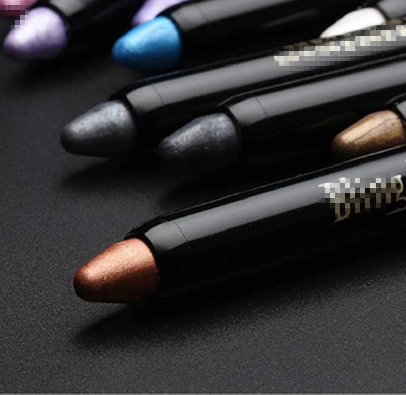 1 Pcs Baru Fashion Kecantikan Highlighter Eyeshadow Pensil Kosmetik Glitter Eye Shadow Pena Kecantikan Profesional Eye Shadow