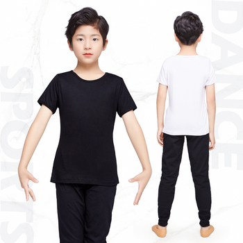 Ballroom Dancing Practice Wear Boy Men Latin Dance Top Pants Suit White Black Shirt Costume 2020 - discount item  10% OFF Stage & Dance Wear