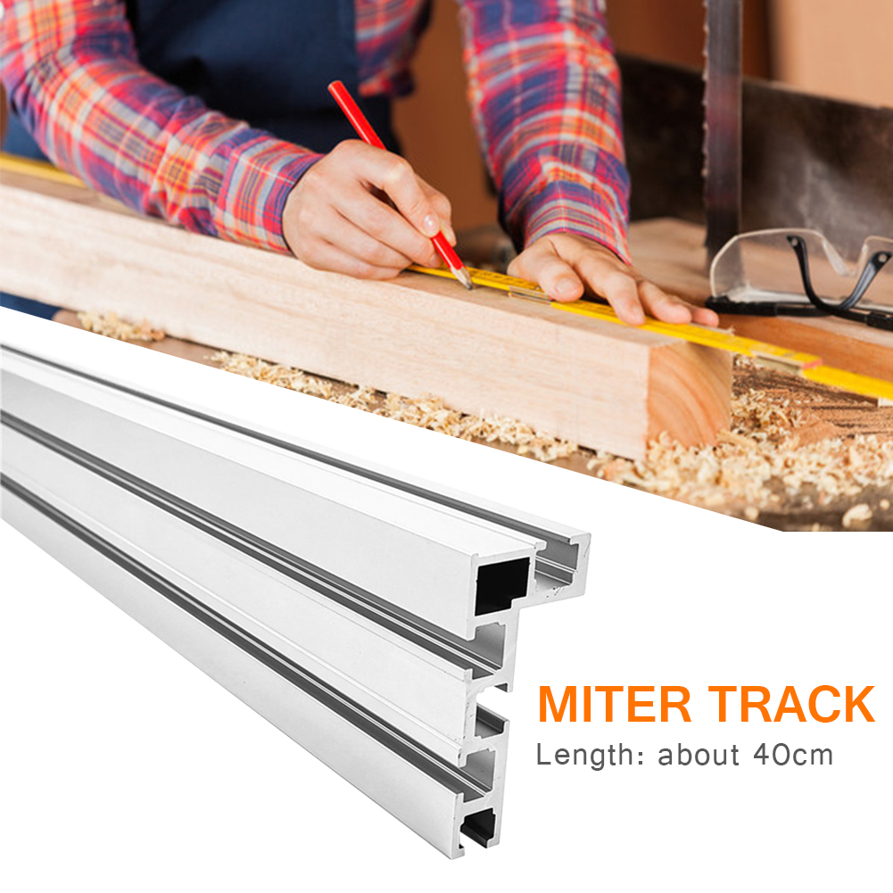 400mm 75 Type Fence DIY Miter Track Bandsaw Workbench Modified Stop T Slot Aluminium Alloy Jig Woodworking Tool Fixture
