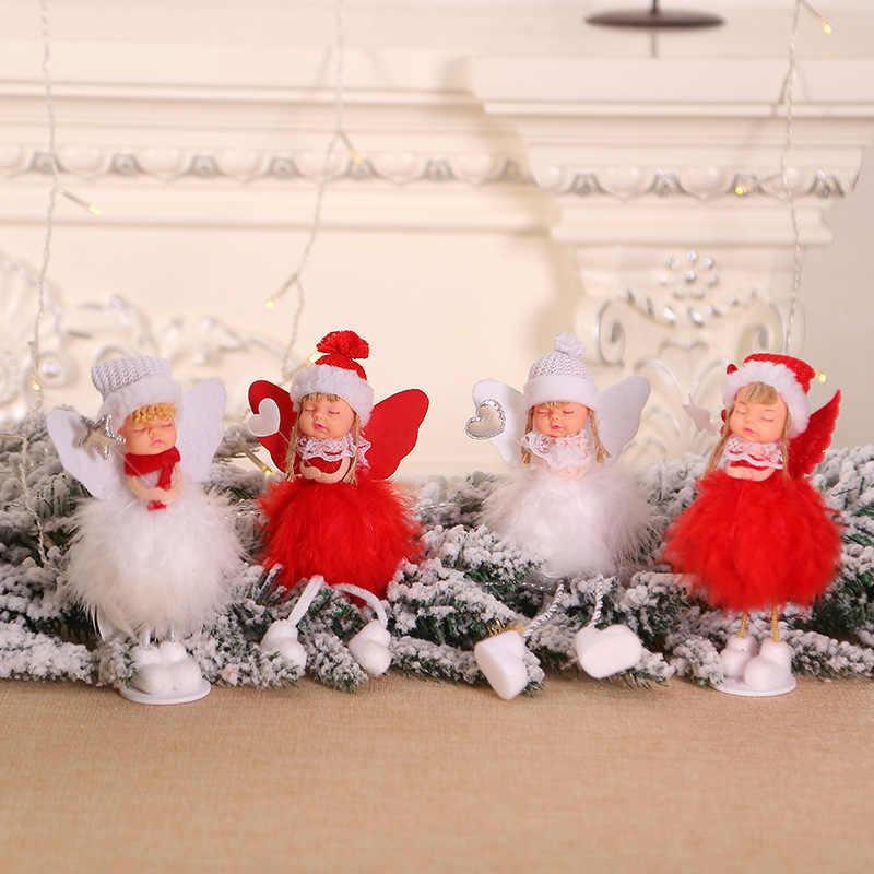 חדש חמוד סנטה קלאוס איש שלג בובת קישוטי תליוני עץ חג מולד תליית קישוט בית חתונת חג המולד המפלגה דקור 62336
