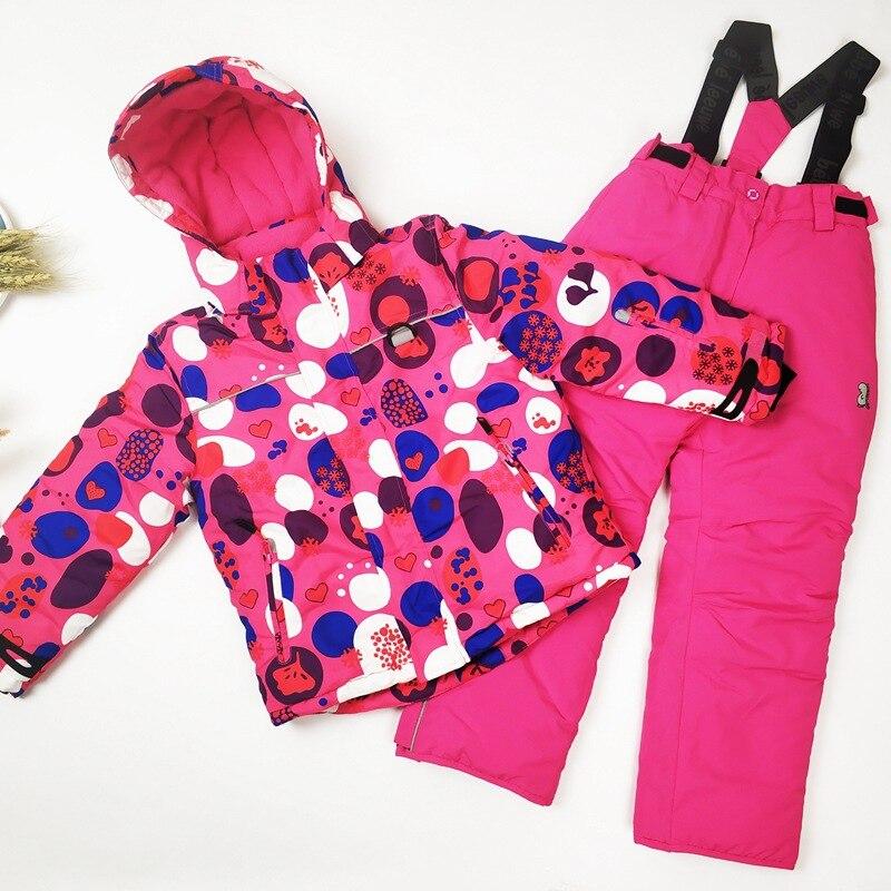 Hiver enfants Ski costume filles en plein air Snowboard veste imperméable garçon neige vêtements chaud et coupe-vent sport enfants Ski ensemble