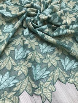 Colours Daisy embroidered water-soluble lace fabric for dress bazin riche getzner telas por metro tissu tissus au metre HF216-10
