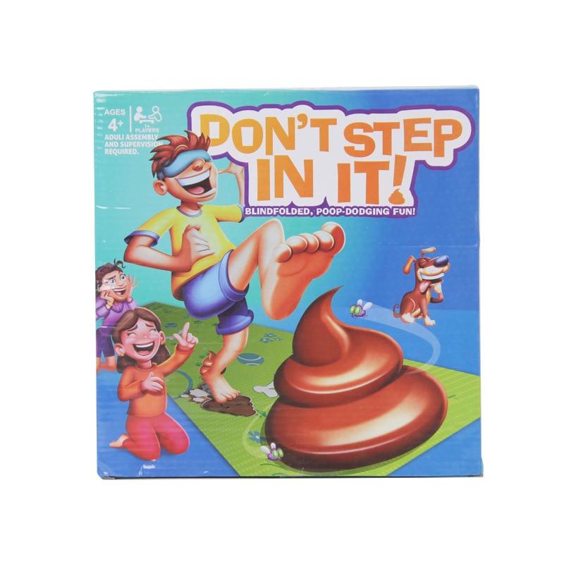 Match de tir jeu interactif pour enfants étape dans le moins de caca à gagner jeu de fête pratique blague jouet cadeau enfants cadeau