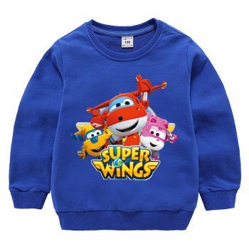 Super Wings Clothes Boys Long Sleeve T Shirt 2019 Autumn Girls Hoodies 11 Colors Kids Cartoon T-shirts Fashion Top 1-10 Years