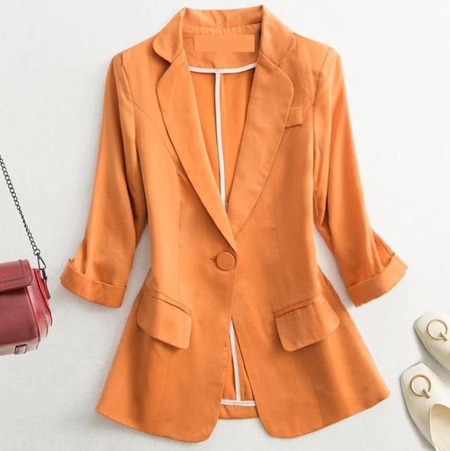 2021 Early Autumn Fashion Women's Coat White Black Blazers Notched Pockets Office Lady Women Short Blazers And Jackets long slee 1