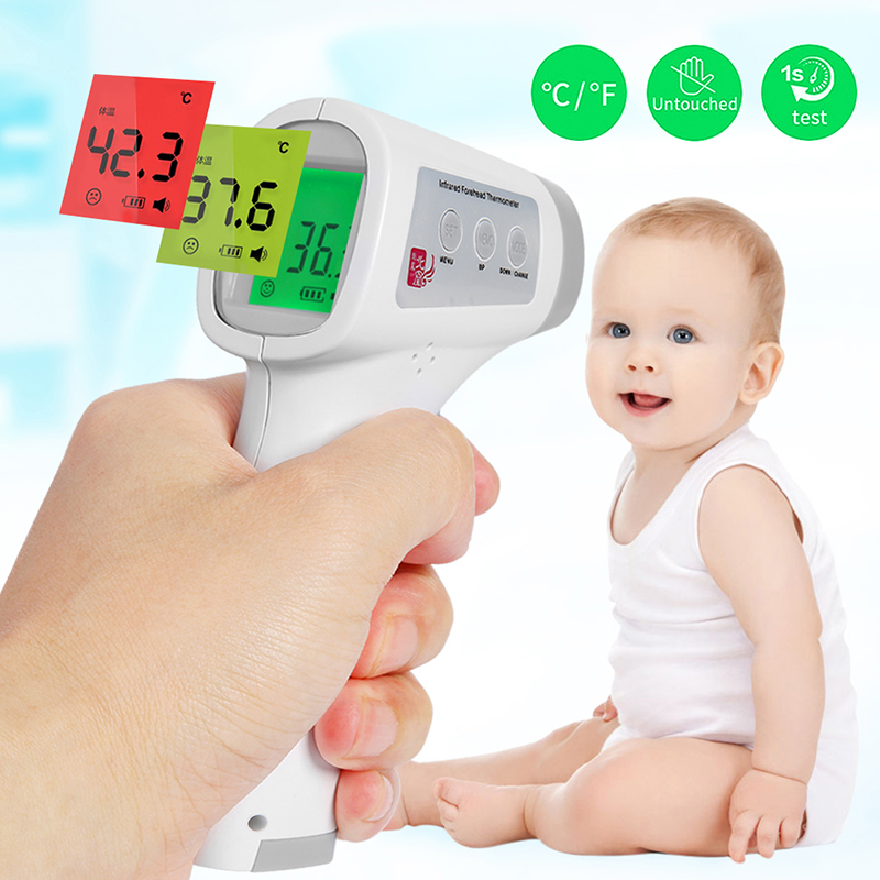 Non-contact Baby Adult Body Thermometer Digital Infrared Forehead Ear Thermometer Gun IR Temperature Measurement Tool Termometro