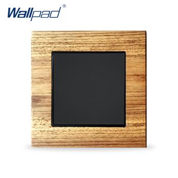 Puste wypełnienie panelu puste ściany brak funkcji Wallpad luksusowe przełączniki ścienne drewniane przełączniki tanie i dobre opinie Wall Switch Z tworzywa sztucznego 12 Years 1 Gang Kołysko- Wall Light Switch Black Wood Wenzhou China (Mainland) Gold Brown