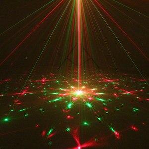 Image 3 - Lumières de partie de Disco de Laser de contrôle vocal de stroboscope de doubles couleurs avec des lumières sonores de lumière détape de Dj déquipement graphique