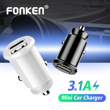 FONKEN 2 Port Usb Car Charger Dual Mini Phone Car-Charger 4.8A Quick Charging For Smartphon
