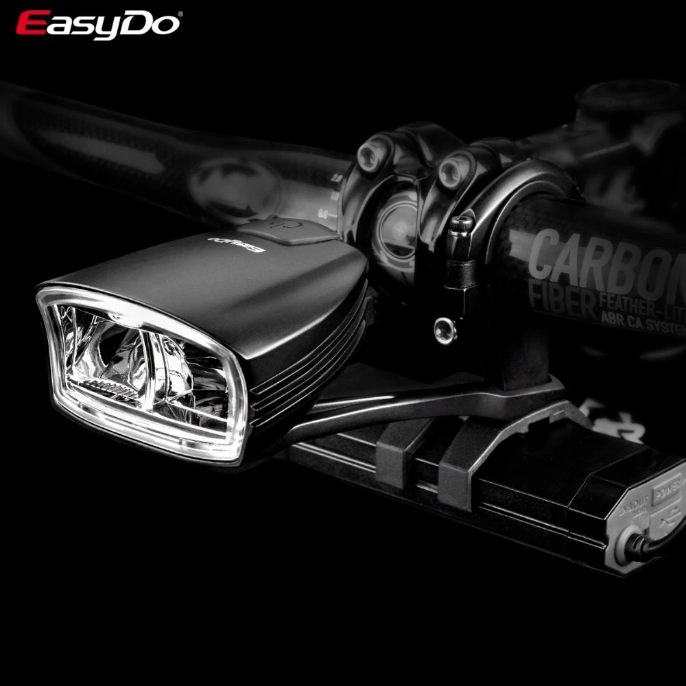 EasyDo Bicycle Bike Head Front Led Light Smart Induction USB 10W Lamp LED 4400mAh For Outdoor Cycling