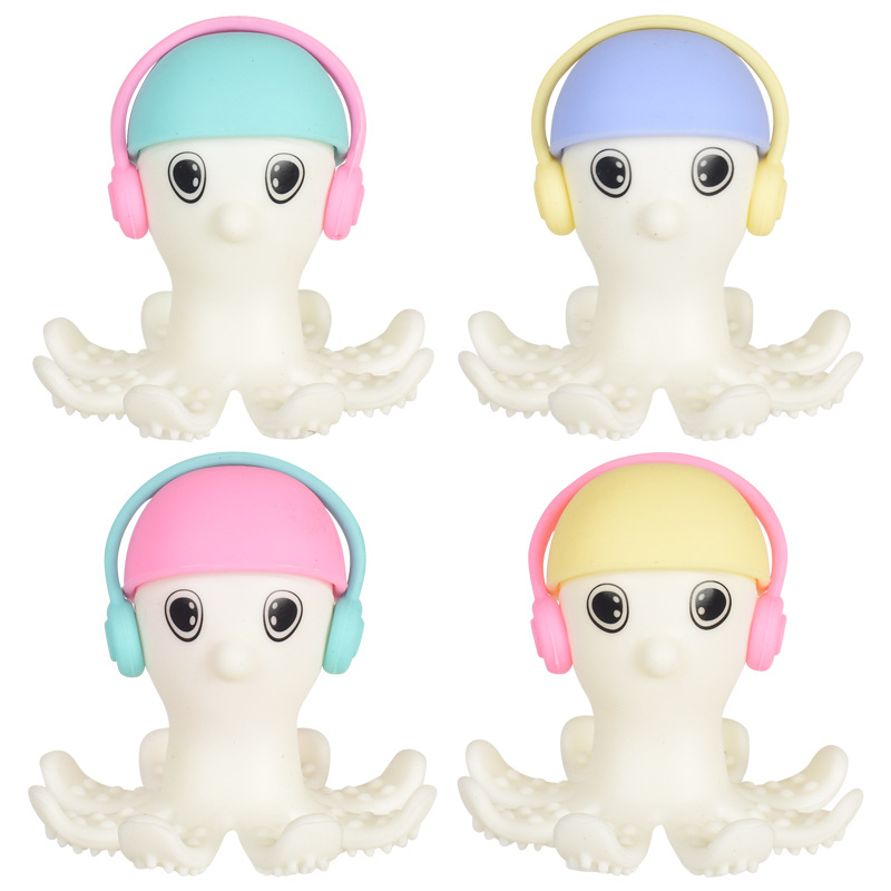 Soft Silicone Cartoon Octopus Baby Teether Toddler Molar Pacifier Teeth Pain Relief Tool Kids Teether Toy Baby Shower Gift