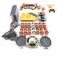 2500 in 1 Pandora box 9D arcade diy joysticks kit,WM 12V power+happ button+copy sanwa joystick+jamma cable+speaker and net