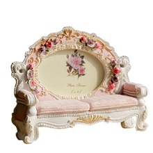 Resin European Classical Sofa Photo Frame Decoration Bedroom Study Living Room Wedding Photos