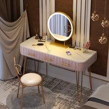 80cm luz de luxo mármore penteadeira mobília do quarto nordic penteadeira simples mestre quarto espelho mesa armazenamento