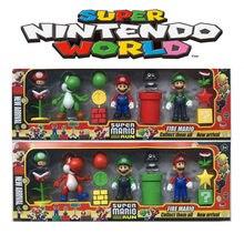 Figurines Super Mario Bros, Luigi, Bowser, Yoshi, jouets en PVC, poupées anime, jeu de Parkour, ornements, cadeaux d'anniversaire